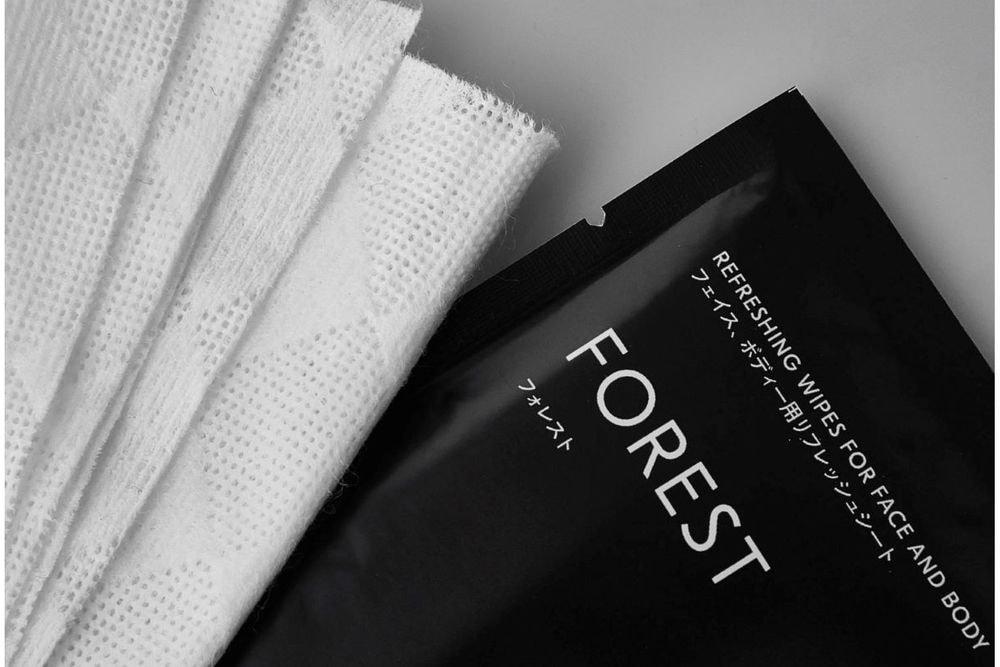デクスト FOREST REFRESHING WIPES FOR FACE AND BODY    分包10枚入り