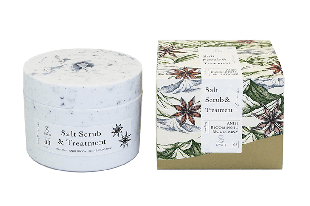 Salt Scrub & Treatment (Anise blooming in Mountains!)