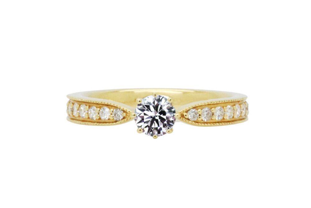 シャンパーニュ 0.346ct ダイヤモンド リング