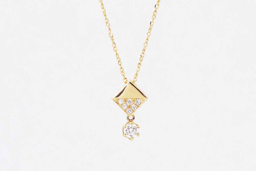 K18 ダイヤモンド ペンダントネックレス