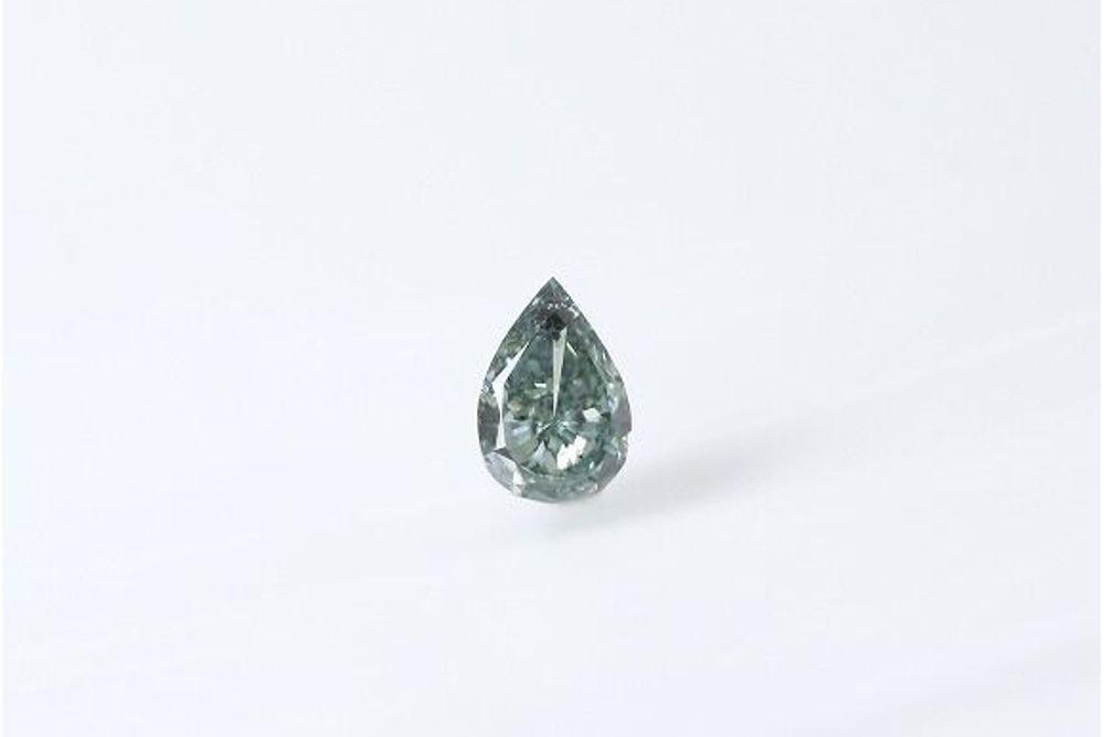 天然 ファンシーディープブルーイッシュグリーン ダイヤモンド  0.210ct