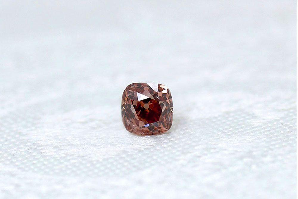 天然 ファンシーディープオレンジピンク ダイヤモンド I1 0.407ct