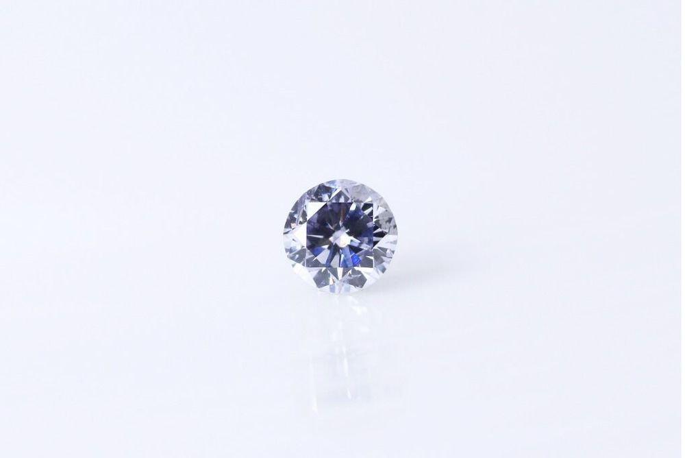 天然 ファンシーグレッシュヴァイオレット ダイヤモンド  I1 0.17ct
