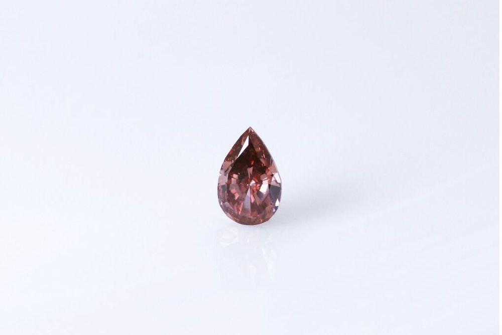 天然 ファンシーディープオレンジピンク ダイヤモンド VS2 0.18ct