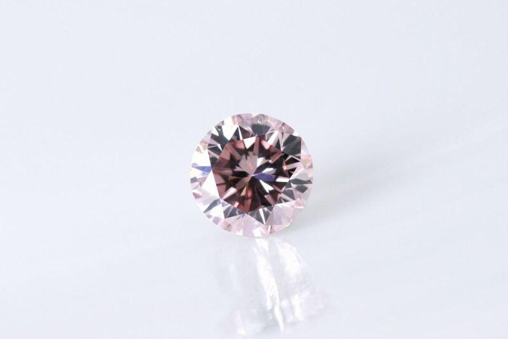 天然 ファンシーインテンスオレンジピンク ダイヤモンド  VS1 0.613ct