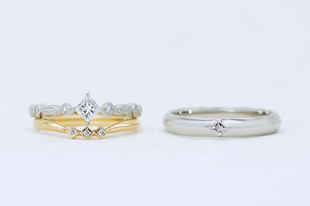 プリンセス 0.261ct ダイヤモンド リング