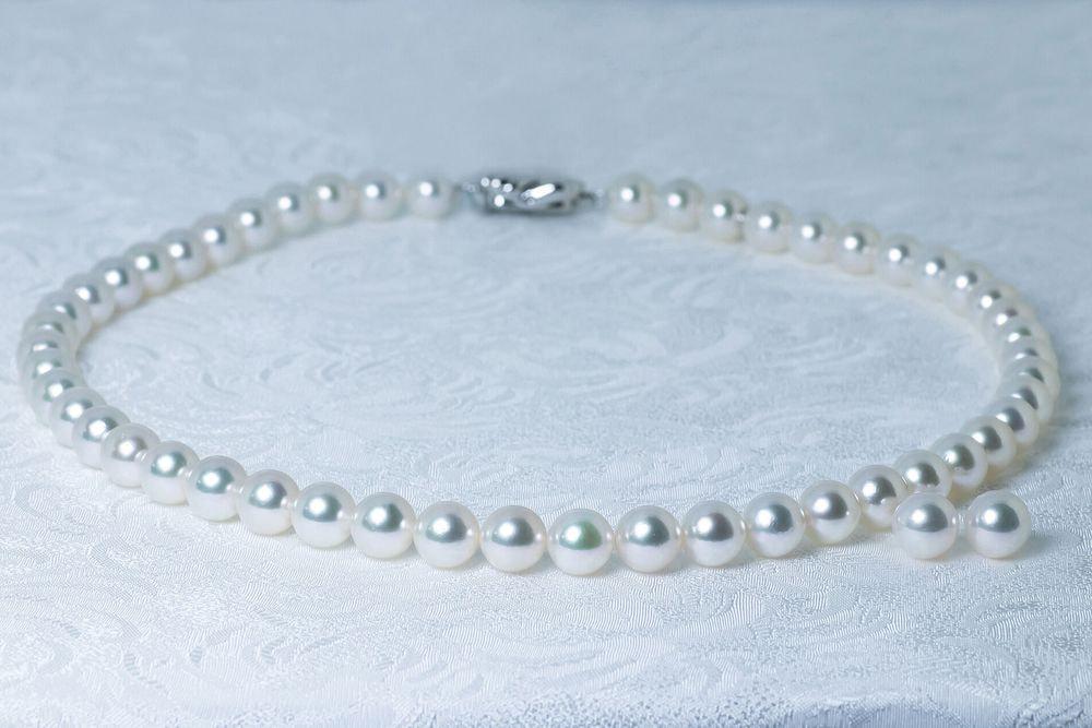 あこや調色真珠ネックレス 8.0-8.5mm イヤリングorピアスセット