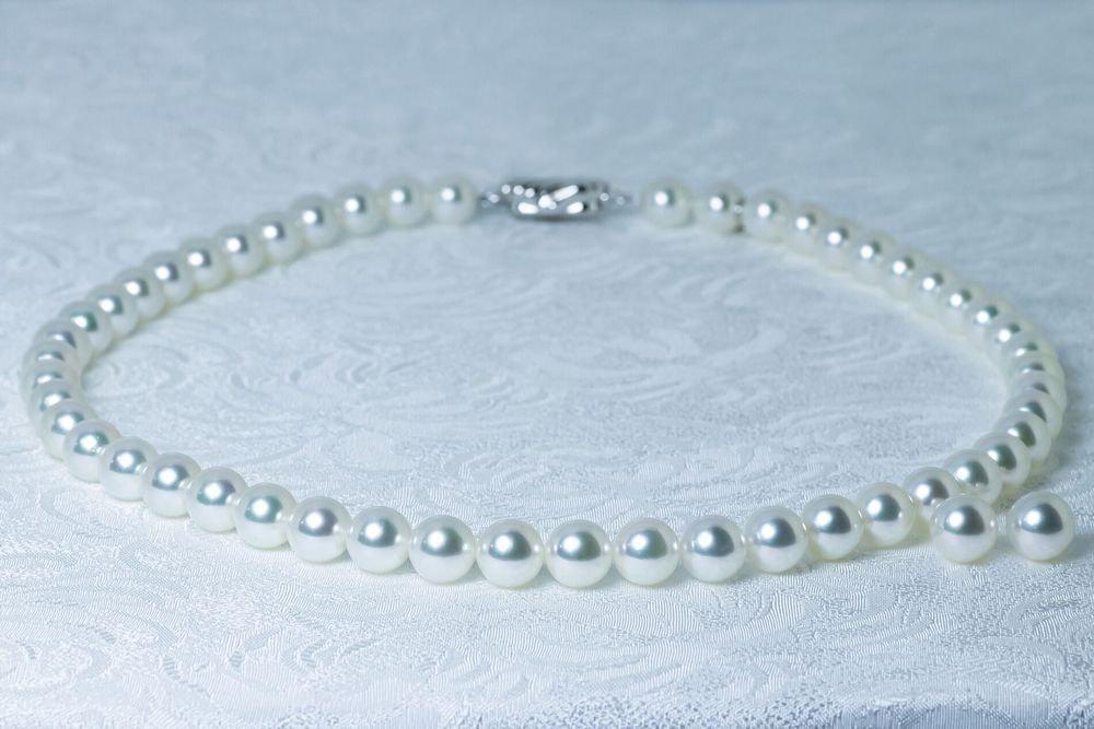 あこや無調色真珠ネックレス 8.0-8.5mm イヤリングorピアスセット
