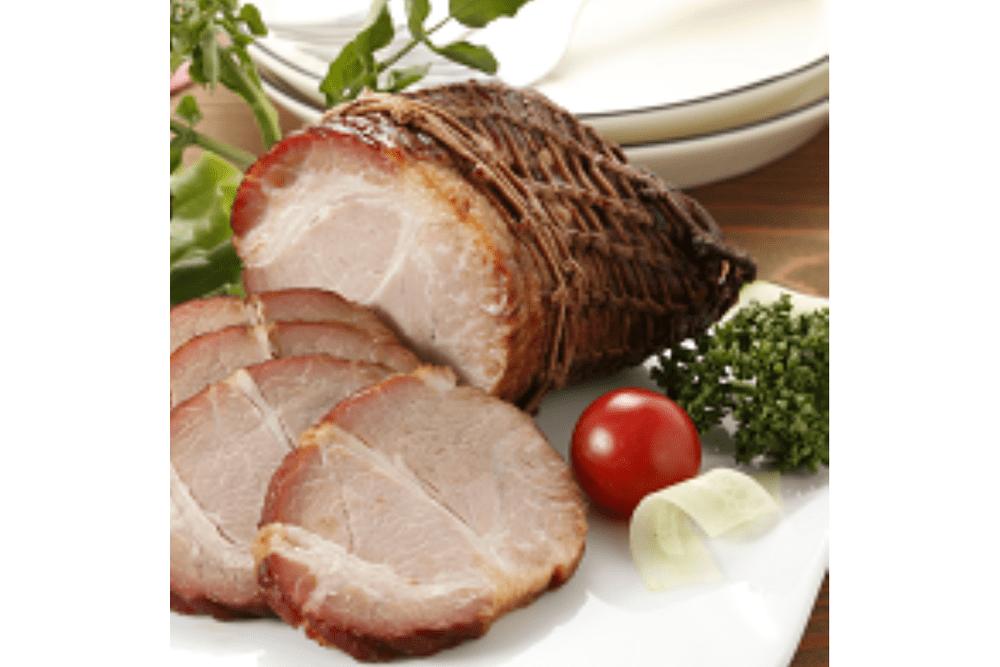 炭火焼焼豚とソーセージ生ハムセット