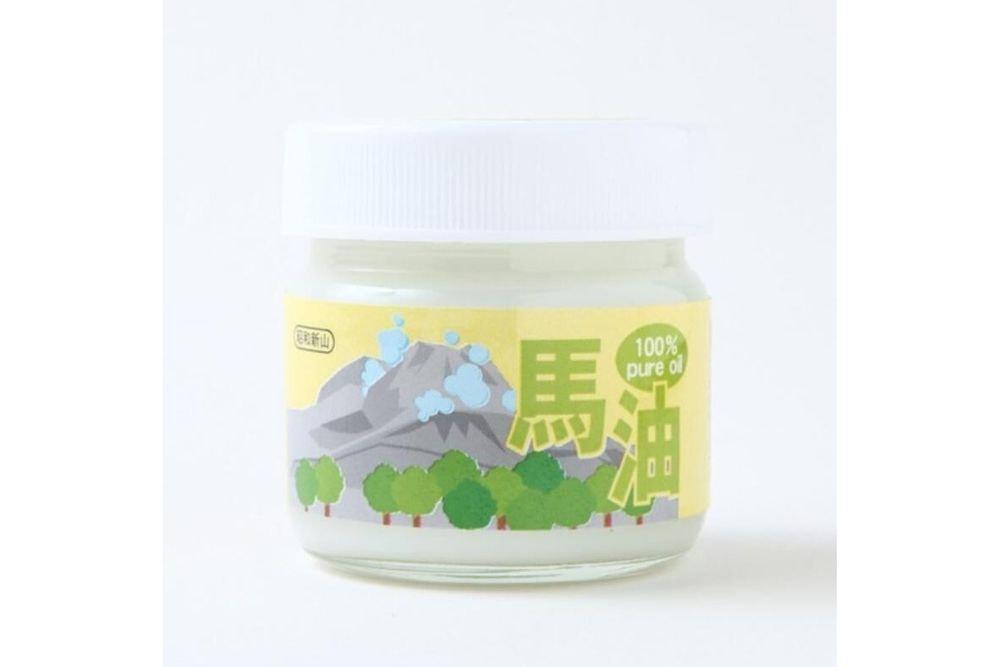 「北海道昭和新山 壹番館」の100%馬油クリーム(お徳用100g×1個)
