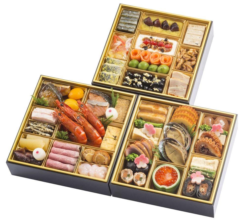 千里山荘 おせち料理和洋三段重