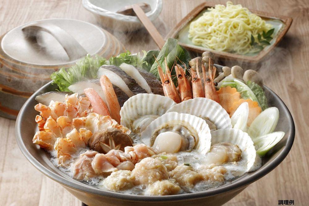 北海道産 海の幸と知床鶏の鍋セット(3〜4人前)