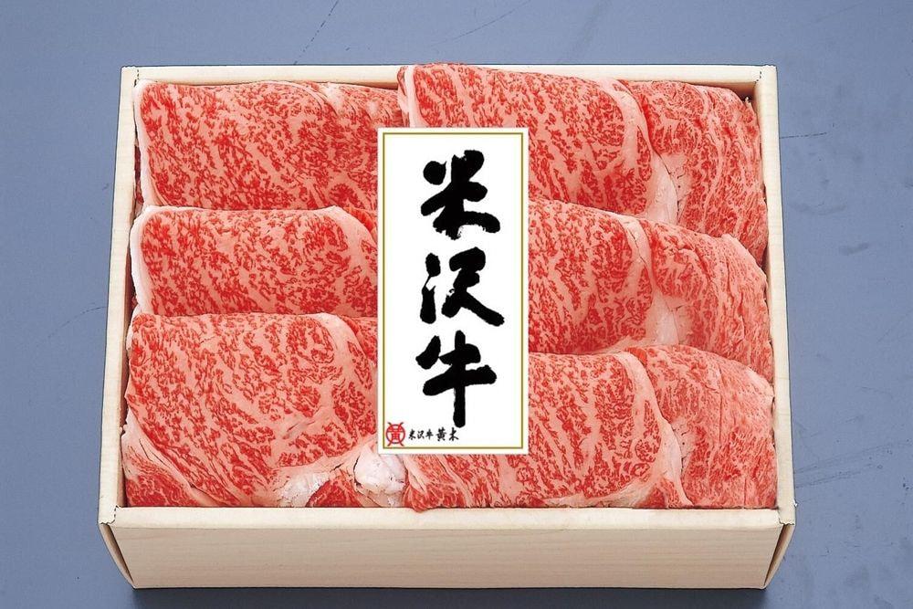 米沢牛霜降りロース肉のすき焼用