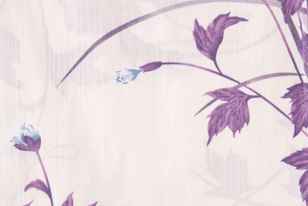 レディース浴衣 紫花柄【品番W004】フリーサイズ