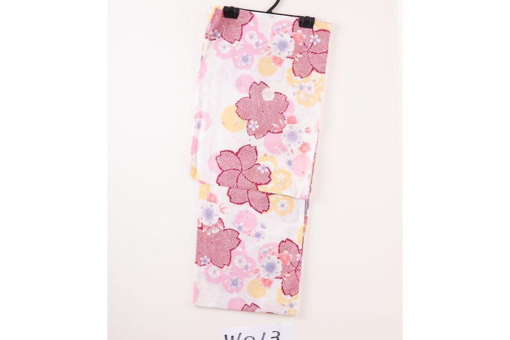 レディース浴衣カラフルの花柄【品番W013】freeサイズ