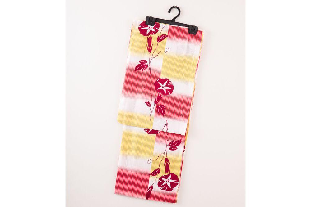 レディース浴衣 朝顔花柄【品番W015】フリーサイズ