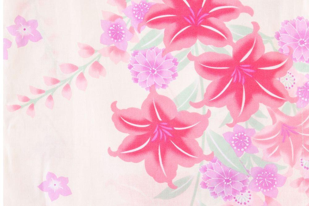 レディース浴衣赤い花模様【品番W026】freeサイズ