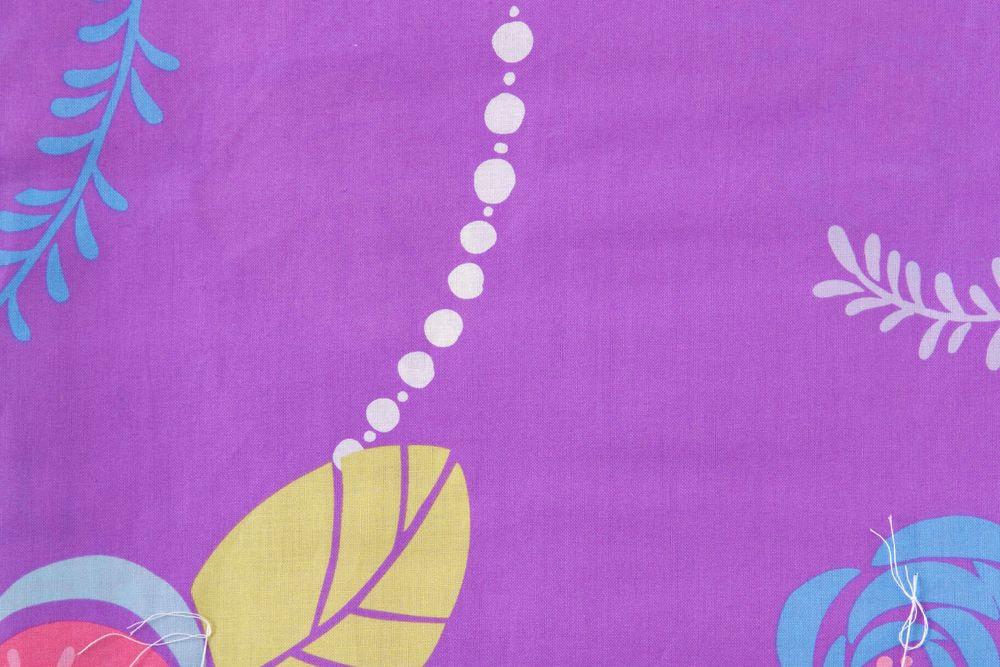 レディース浴衣 紫浴衣 花柄【品番W029】freeサイズ