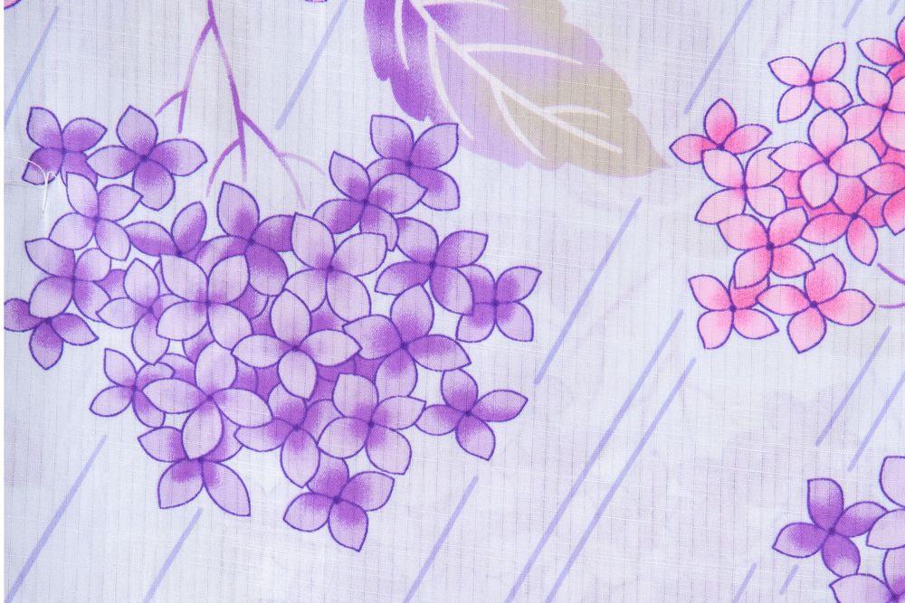 レディース浴衣 紫浴衣 花柄【品番W031】freeサイズ