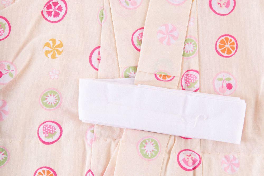 子供サイズ100 女の子浴衣 ピンク 丸いパータン模様 【品番KDYG38】