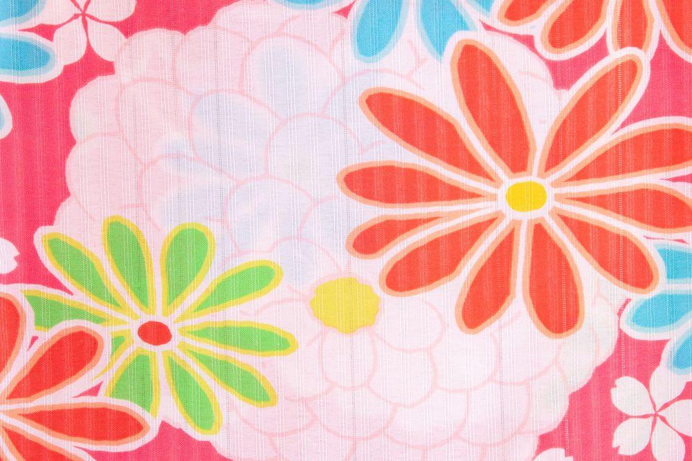 子供サイズ120 女の子浴衣 ピンク 花柄【品番KDYG21】
