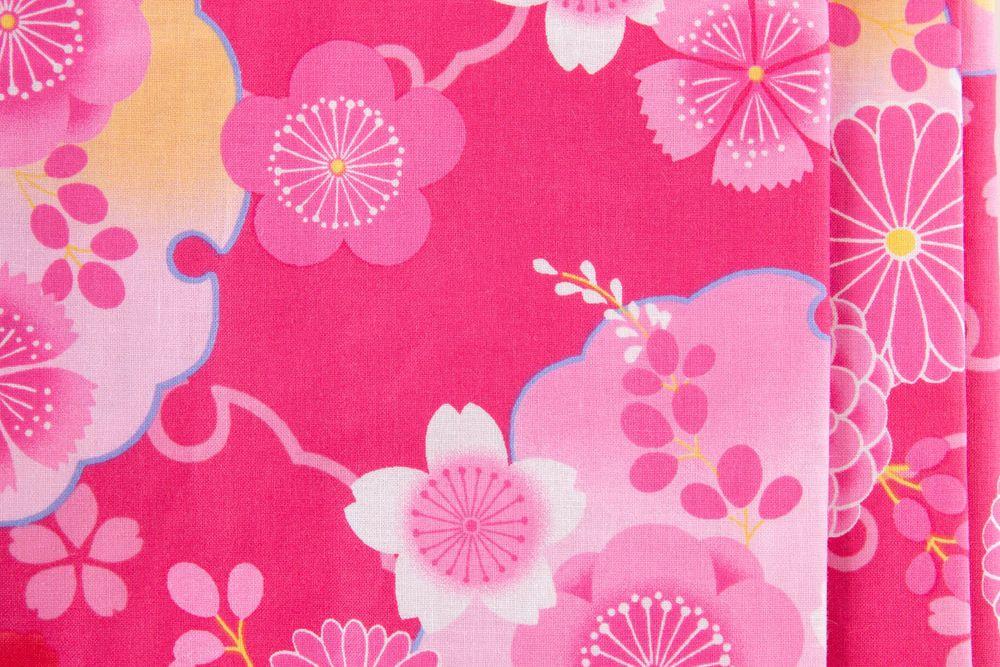 子供サイズ140 女の子浴衣 ピンク 花柄【品番KDYG27】