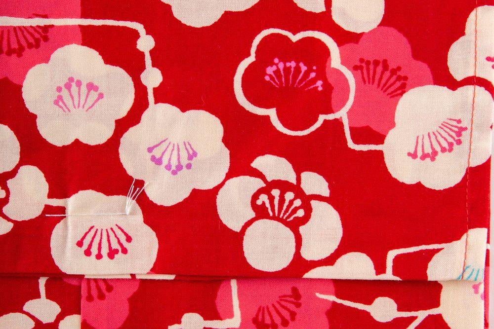 子供サイズ110 女の子浴衣 赤い浴衣 花柄【品番KDYG09】