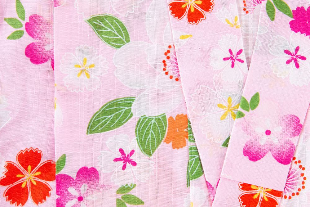 子供サイズ110 女の子浴衣 セット付き ピンク色  花柄【品番KDYG02S】