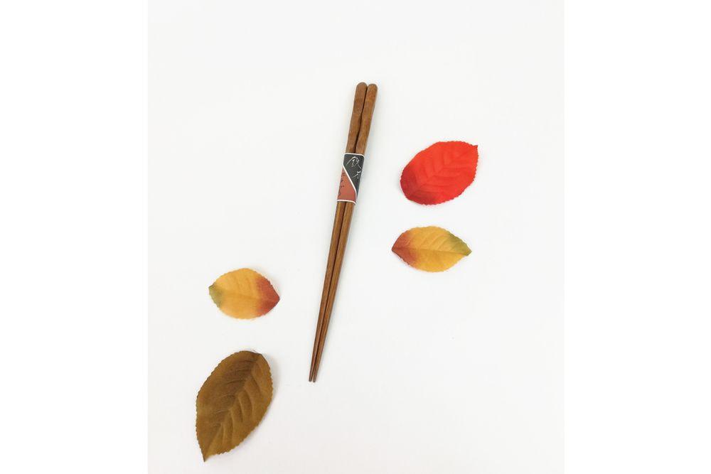 木箸江戸作り 小紋鉄木