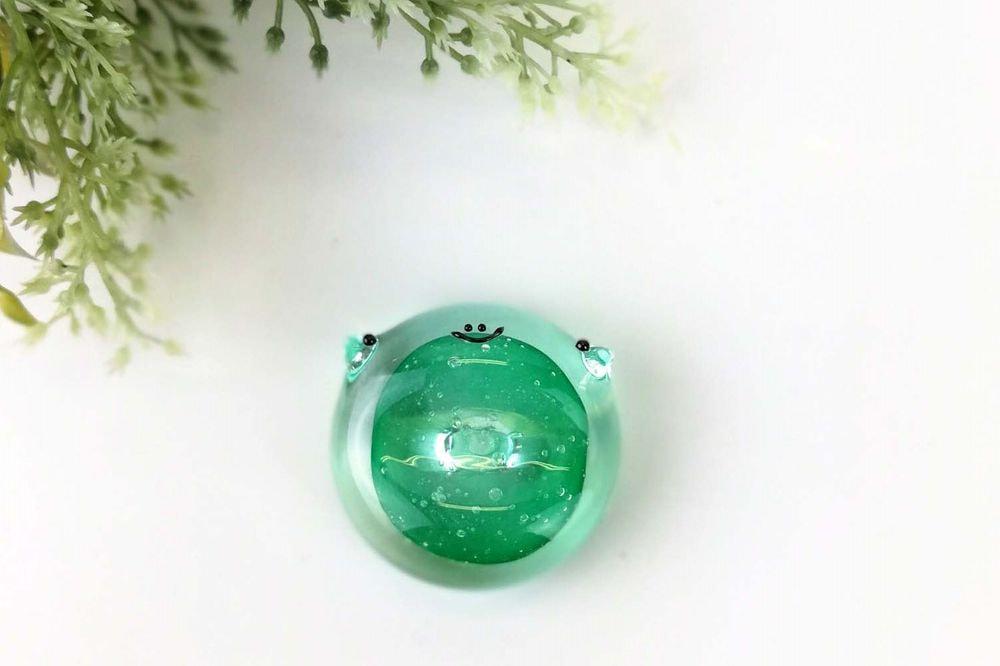 カエル箸置き 緑