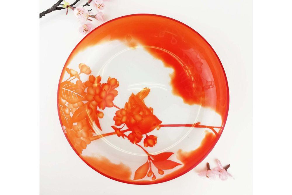 大皿 桜とメジロ