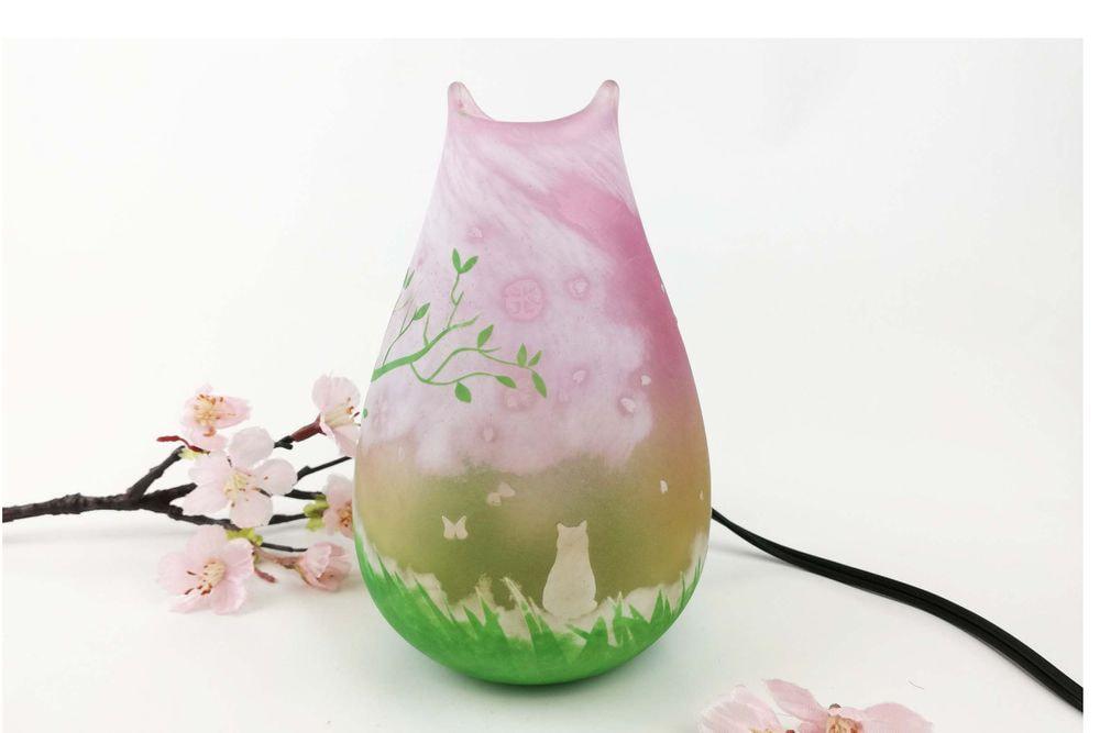 LEDランプ 春桜猫