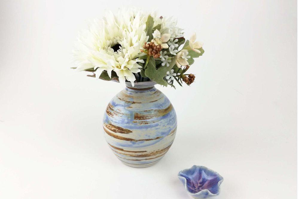 蓋つき花器 木星花